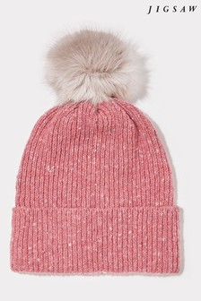 Jigsaw Pink Donegal Pom Hat