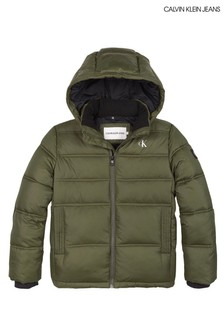 Calvin Klein Green Essential Padded Jacket