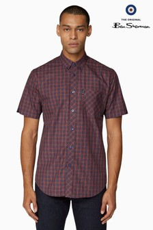 Ben Sherman Orange Short Sleeve House Check Shirt
