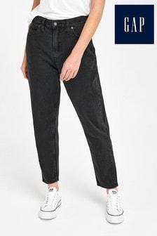 Gap Black Cropped Mom Jeans