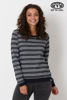Animal Blue Stripes Crew Neck Sweatshirt