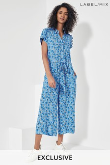 Mix/Brogger Blue Ditsy Floral Jumpsuit
