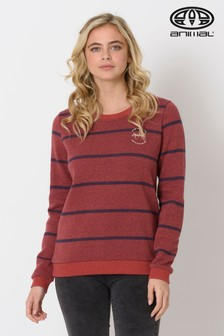 Animal Red Stripes Crew Neck Sweatshirt