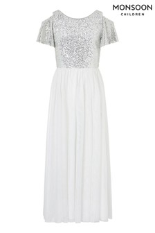 Monsoon Ivory Jacinta Cold Shoulder Prom Dress