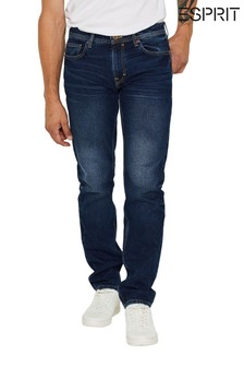 Esprit Blue Washed Straight Denim Jeans