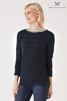 Crew Clothing Blue Salcombe Jumper