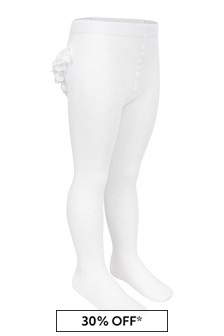 Baby Girls White Ruffles Tights