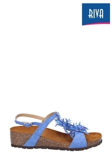 Riva Blue Java Buckled Slingback Sandals