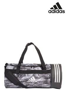 adidas Black 3 Stripe Medium Duffle Bag