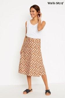 White Stuff Pink Summer Reversible Wrap Skirt