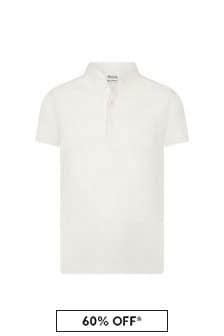 Bonpoint Boys Cream Cotton Poloshirt