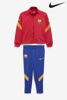 Nike Burgundy FC Barcelona Lil Kids Tracksuit