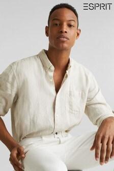 Esprit Brown Linen Melange Shirt