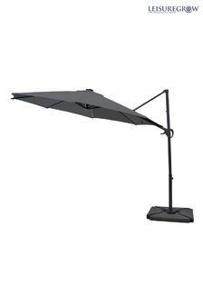 Maple 3.0M SolarPowered Cantilever Parasol Grey By LG Outdoor