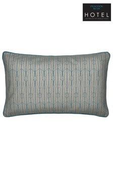 Peacock Blue Antara Metallic Trellis Deco Cushion