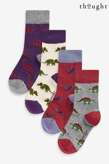 Thought Red Extinct Kids Sock Box Four Pack