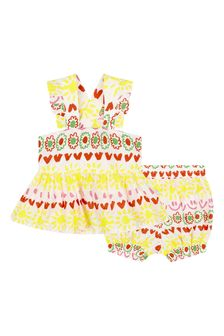 Baby Girls Multicoloured Cotton Outfit