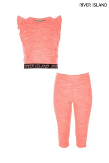 River Island Pink Bright Active Pink Grindle Set