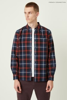 French Connection Red Broad Check Shirt