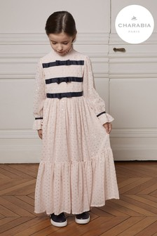 Charabia Pink Plumetis Long Dress