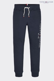Tommy Hilfiger Blue Essential Logo Sweatpants