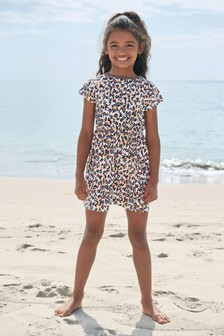 Short Sleeve Printed Dress (3-16yrs)