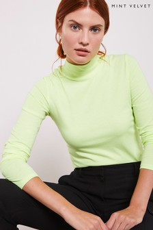 Mint Velvet Neon Polo Neck Top