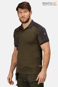 Regatta Green Offensive Wicking Poloshirt