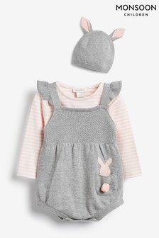 Monsoon Grey Newborn Romper Set