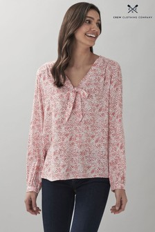 Crew Clothing Company Tilly Tie Neck Top