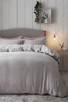 Sparkle Fleece Duvet Cover And Pillowcase Set