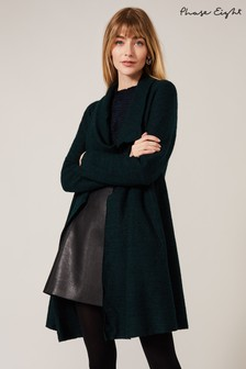 Phase Eight Green Bellona Knitted Coat