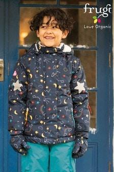 Frugi Blue Recycled Materials Ski Jacket