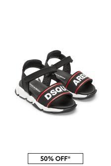 Dsquared2 Kids Boys Black Sandals