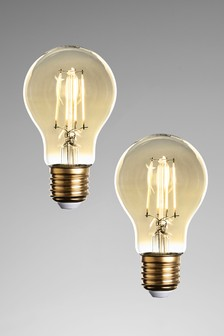 2 Pack 4W ES LED Retro GLS Dimmable Bulbs