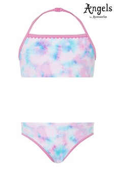 Angels by Accessorize Pink Tie Dye Printed Bikini