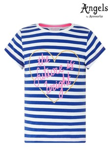 Angels by Accessorize Blue The Future Is Bright T-Shirt