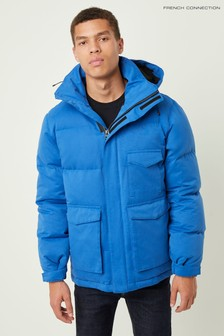 French Connection Blue Micro Cotton Drill Jacket