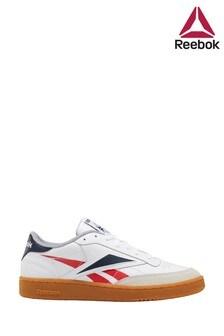 Reebok White/Red/Black Club C 85 Trainers