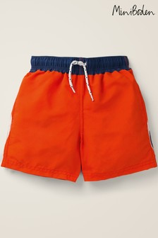 Boden Orange Swim Shorts
