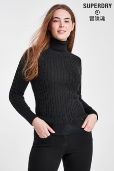 Superdry Black Croyde Knit Jumper