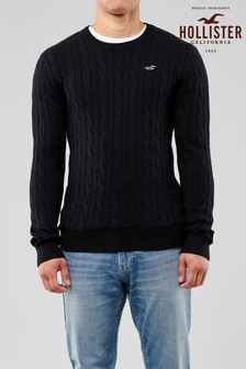 Hollister Black Cable Jumper