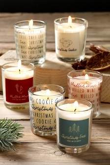 Set of 6 Christmas Time Candles