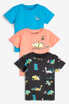 3 Pack Dinosaur T-Shirts (3mths-7yrs)