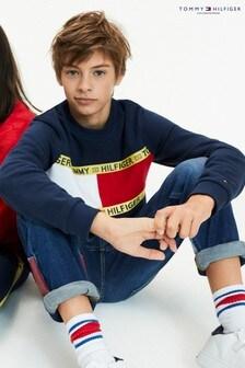 Tommy Hilfiger Blue Sustainable Flag Sweatshirt