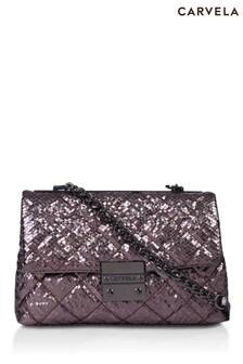 Carvela Metallic Bailey Soft Quilted Shoulder Bag