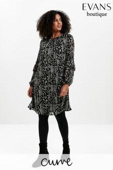 Evans Curve Non Print Chiffon Tunic Dress