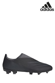 adidas Black X P3 Laceless Firm Ground Football Boots