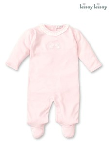 Kissy Kissy Pink Embroidered Bunny Babygrow