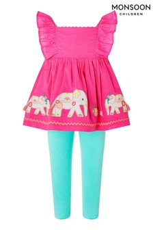 Monsoon Pink Baby Nelly Set